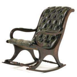 English Leather Rocking Chair FA 1105B