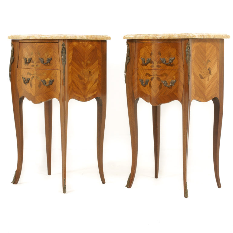 French Inlaid Marquetry Marble Top Nightstands FA 1061  : FA1061MarqMarblenightstands 7 770x770 from antiquewarehouse.ca size 770 x 770 jpeg 67kB