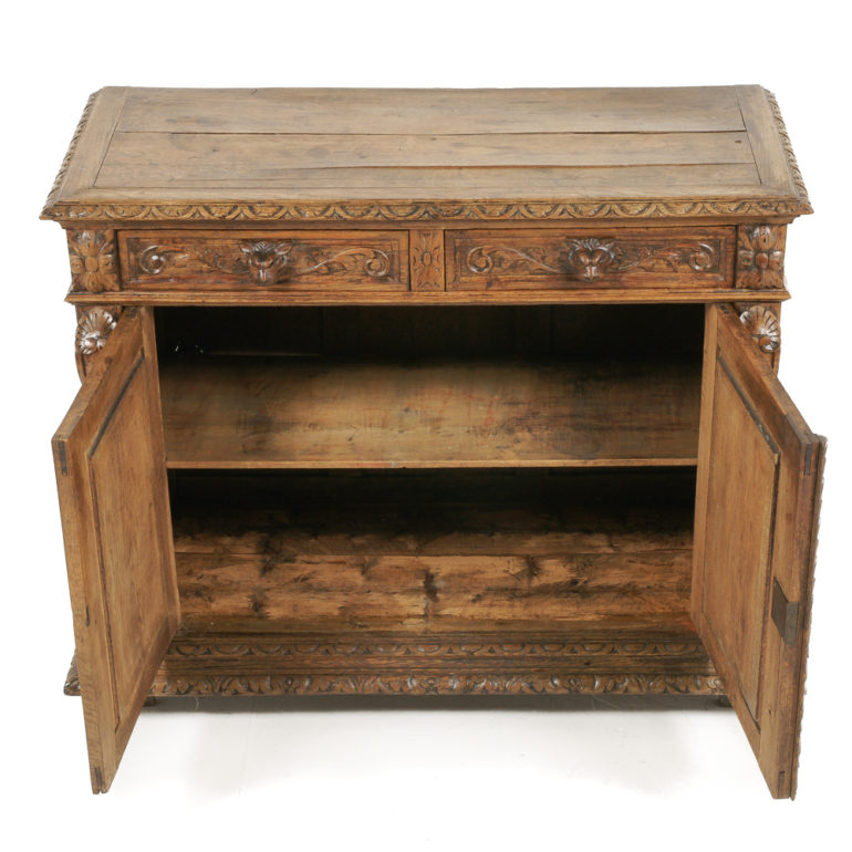 Carved Oak Henri II Buffet FA-1138 | Antique Warehouse