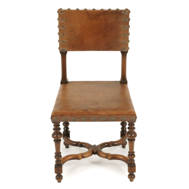 Antique French Walnut Amp Leather Chairs Fa 1136 Antique