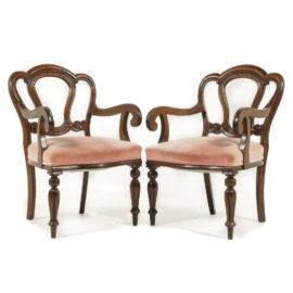 Set Of English Mahogany Dining Chairs C PK