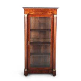 French Empire Style Mahogany Marble Top Cabinet Or U201cVitrineu201d FC 1178