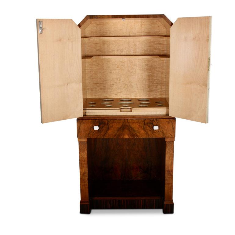 English Art Deco Liquor Cabinet C Gd Antique Warehouse