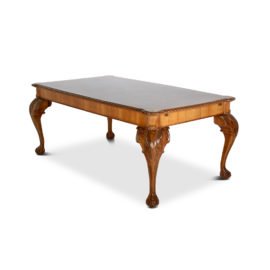 115ba8376623 French Walnut Chippendale-Style Dining Table with Leaves FF-1433B