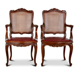 1d78e920827a Pair of Carved Louis XV Cane Armchairs FF-1517D