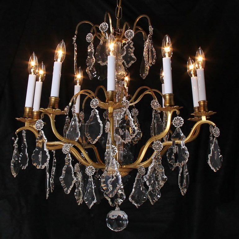 19th Century French Birdcage Chandelier Fh 1367 Antique