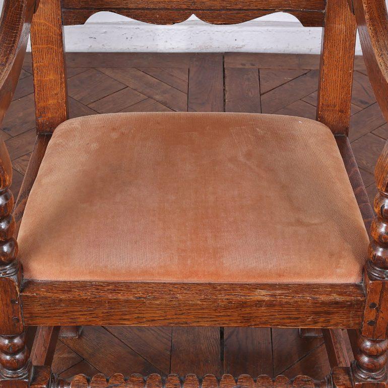 Jacobean Revival Oak Armchairs 'Hotel Vancouver' C-GD ...